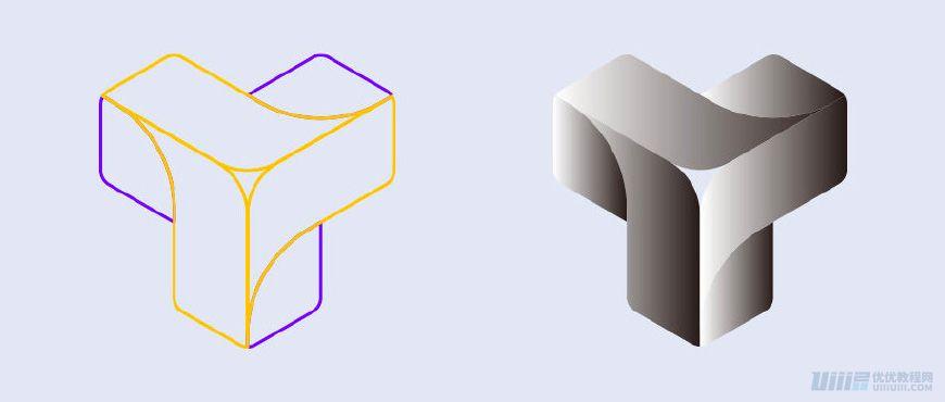 AI教程!8步制作渐变品牌LOGO