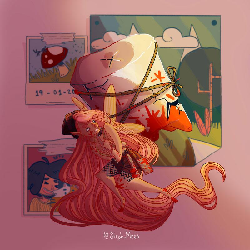 12款少女人物角色插画