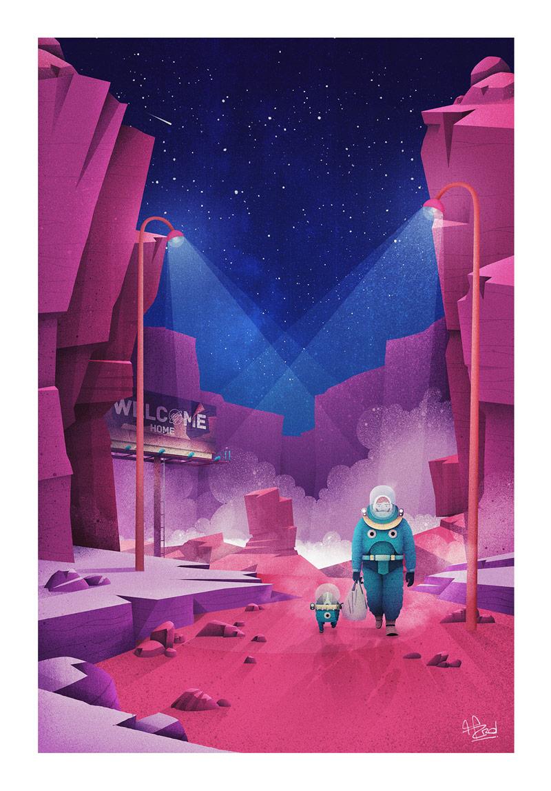 为想象力增添动力!10款景观科幻插图