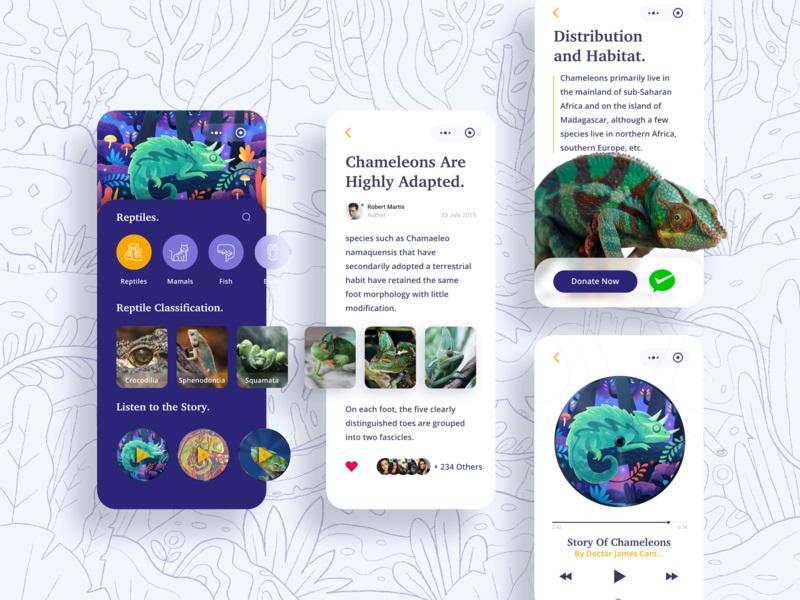 关爱动物!12组关于动物保护APP设计的界面探索