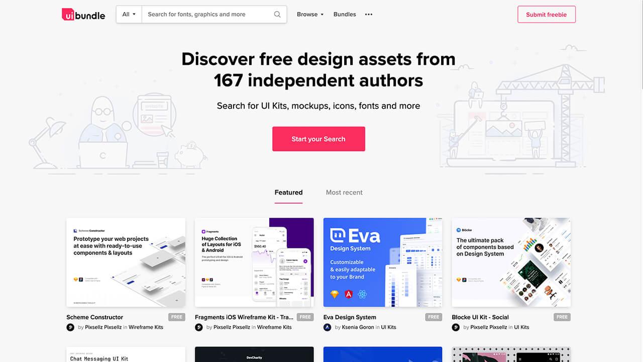 设计神器UIBundle!免费可商用的设计素材资源