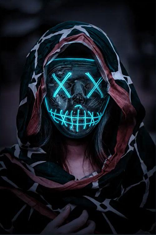 PS合成!暗夜中的鬼脸面具人!(含素材图片下载)