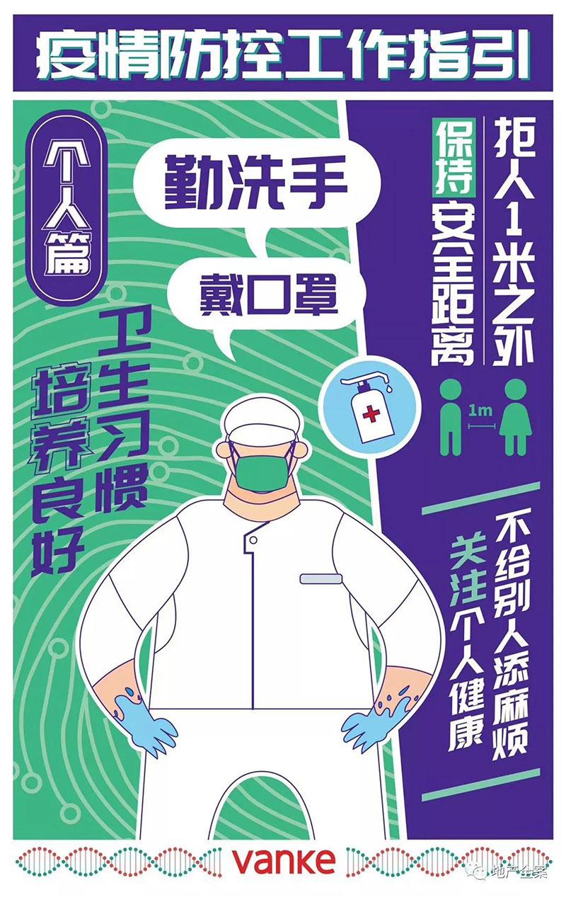 各大地产公司的防疫提示海报(一)