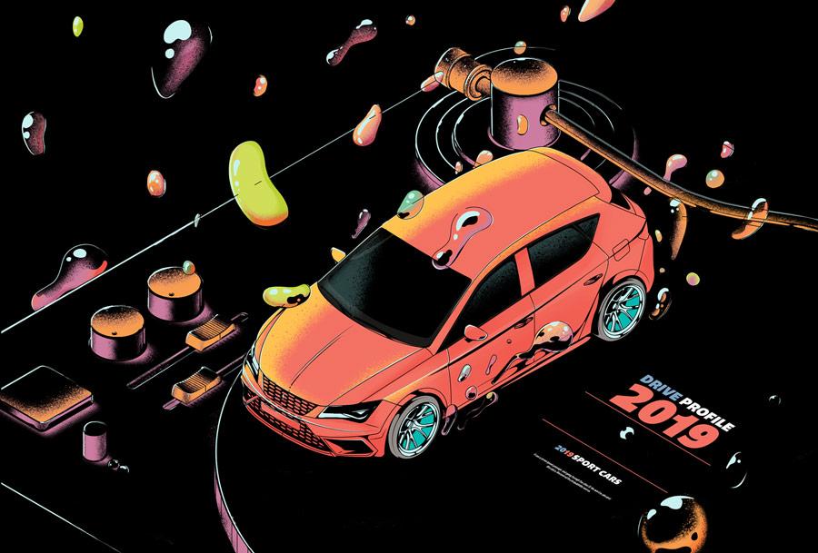冲击力!10款耐看的复古风格插画