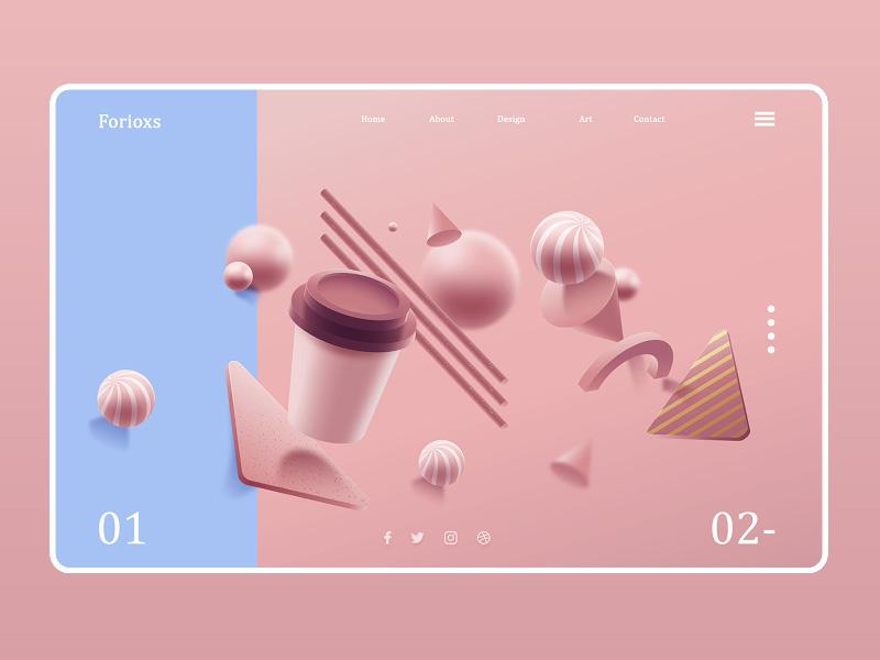 12组3D风网站界面设计灵感