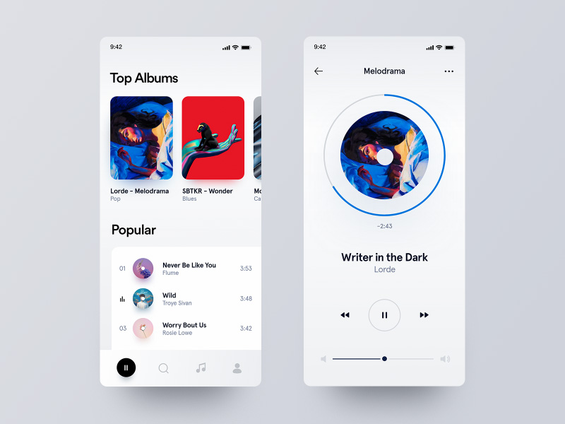 侧耳倾「听」!12组音乐App界面设计灵感