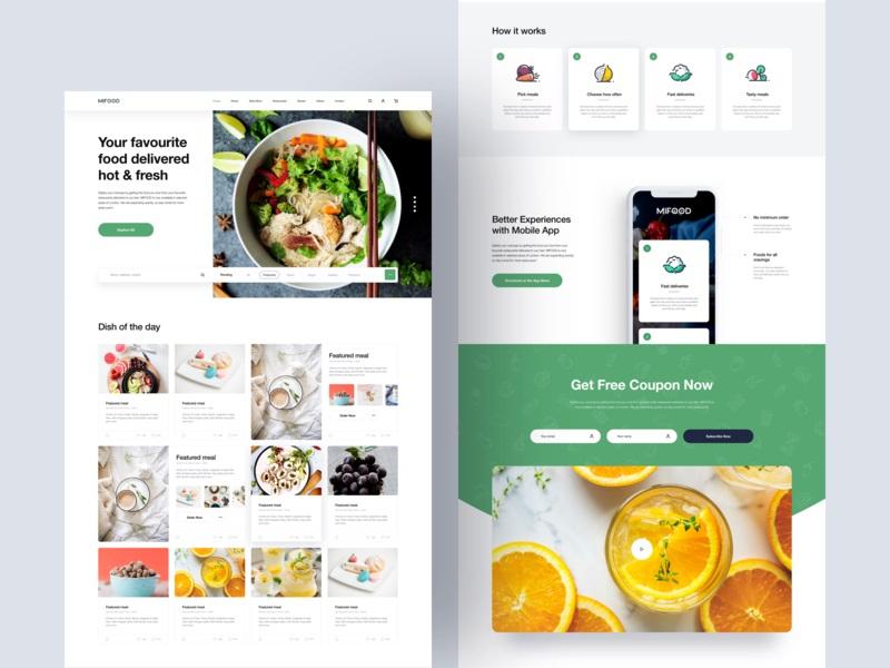 「主打」独特风格!12组食品类网站界面设计探索