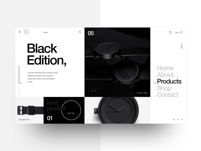 12组关于手表网店界面的设计探索