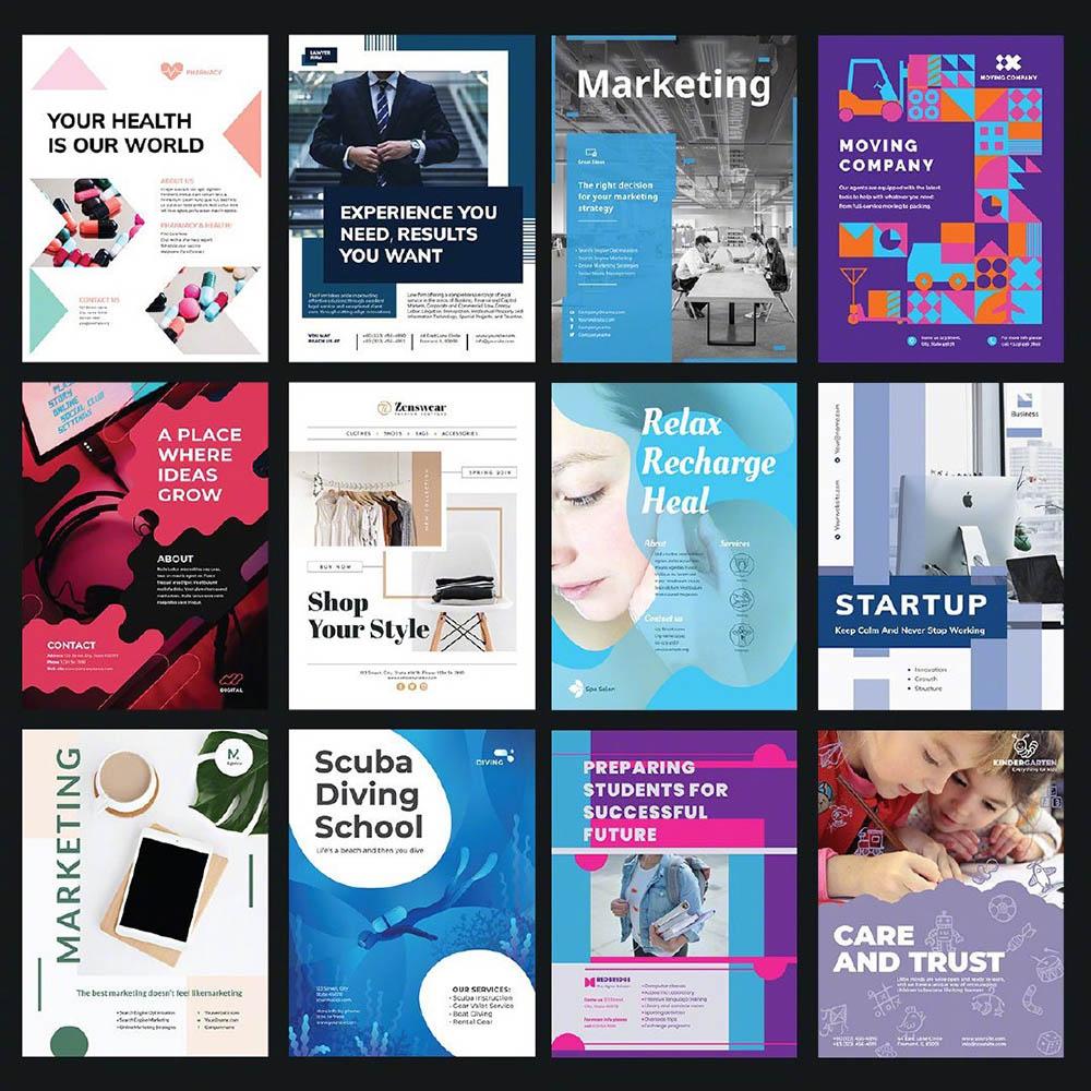 100多种海报宣传单页设计