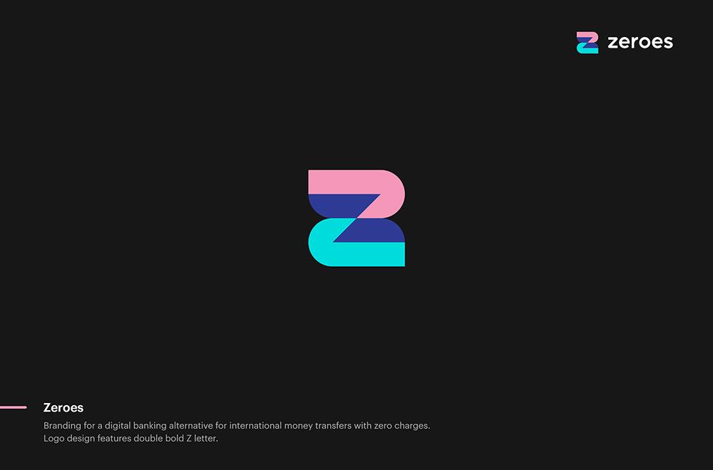 时尚色彩!26款简洁渐变Logo设计