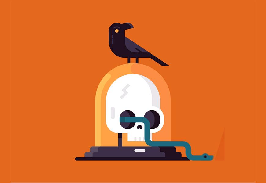 AI+AE教程!有趣的乌鸦与蛇小动效