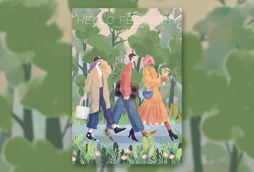 手绘速剪!绘制春意满满的海报