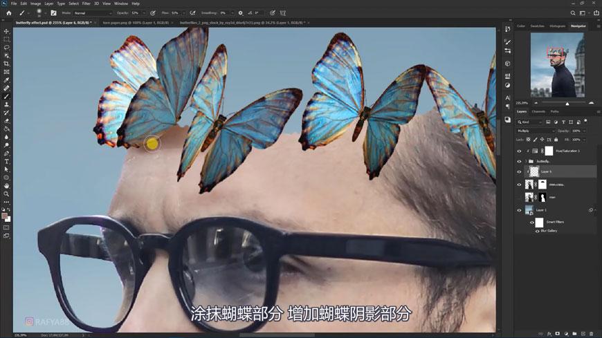 PS合成!合成人物蝴蝶融合场景!(含素材图片下载)