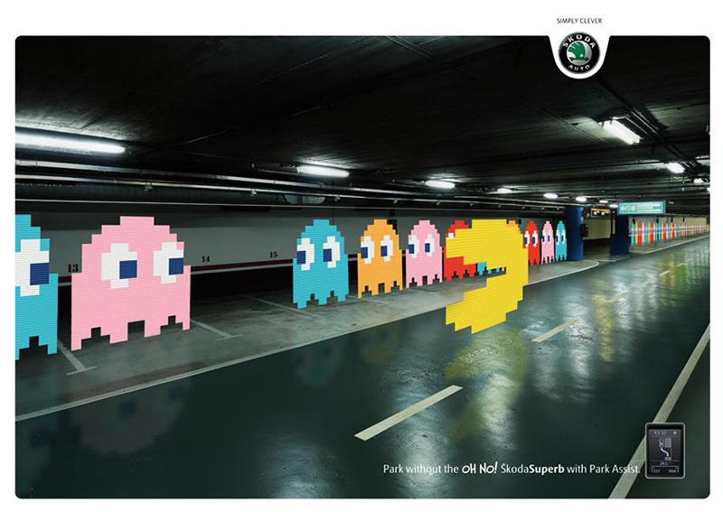 创意无限!斯科达汽车产品海报