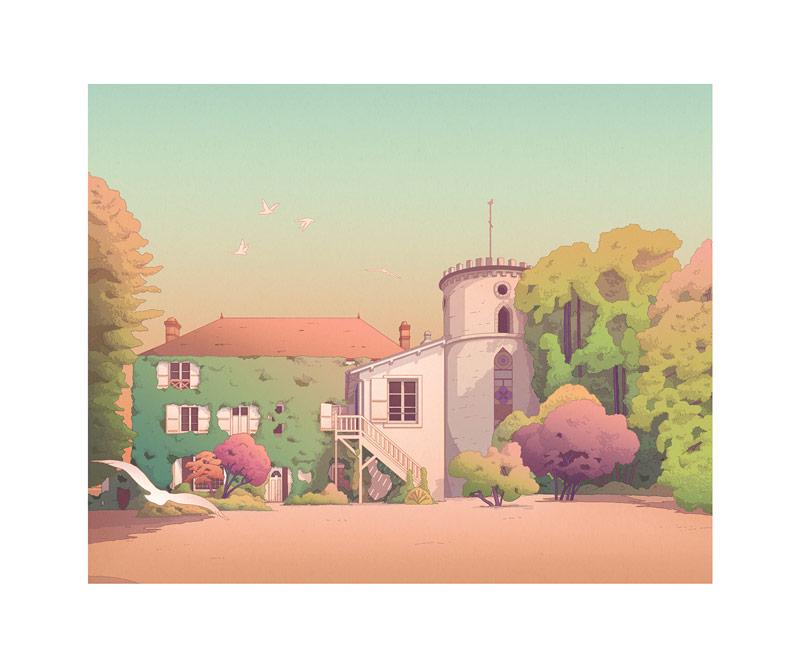10款城市景观印刷插图