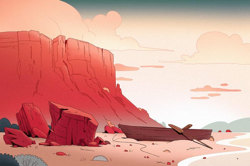 10款简约大方的概念景观插图