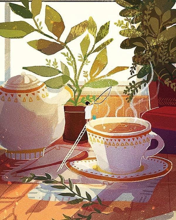 温馨氛围!10款温暖治愈的场景插画