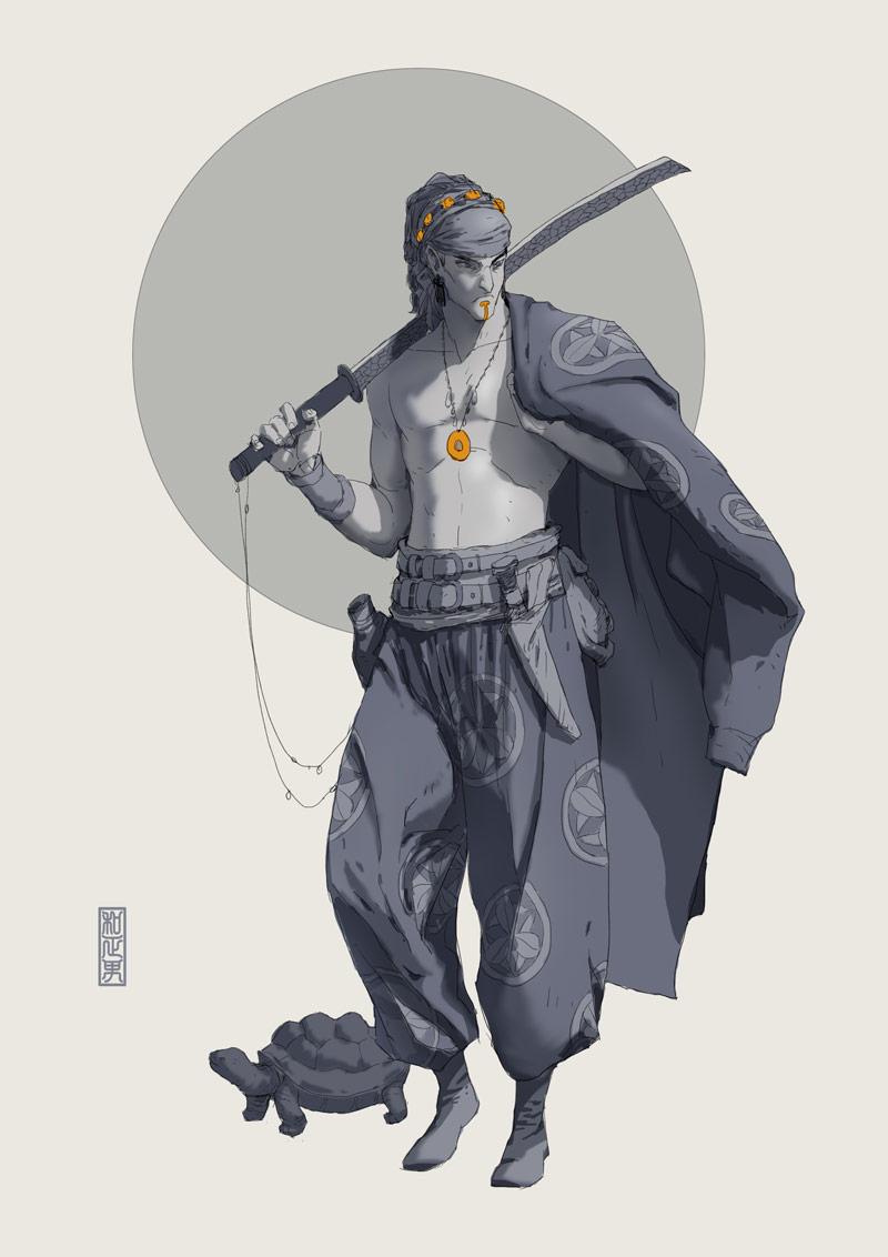 黑白系列!9款概念人物插图