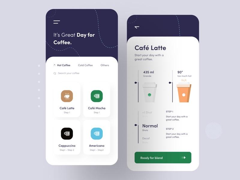 下午茶时间!12组咖啡店App界面设计灵感