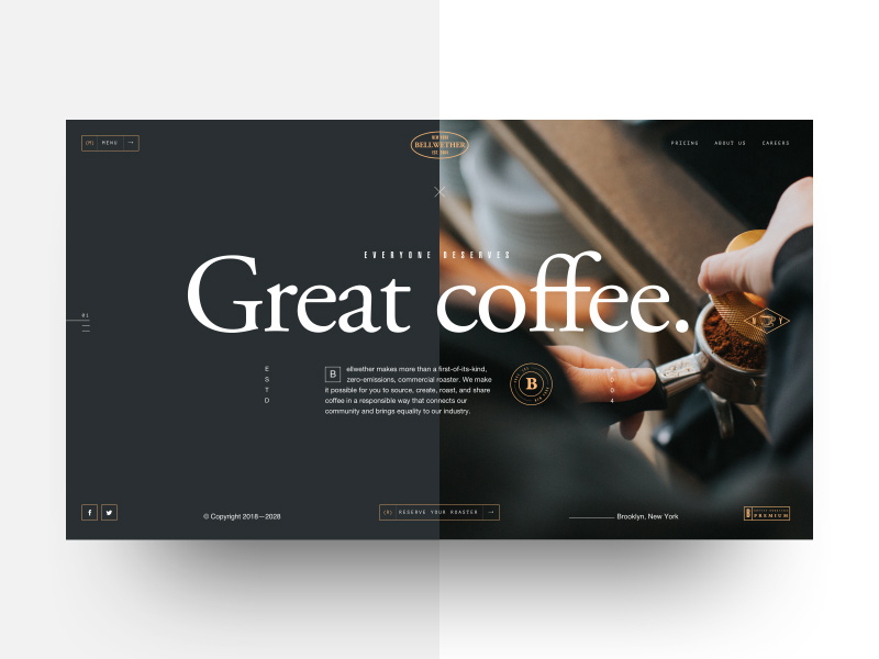 Adrián Somoza—Bellwether Coffee - Landing concept