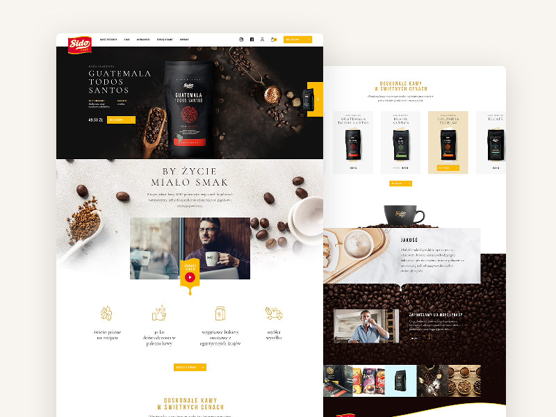 Igor Vensko—Sido - website for Polish coffee maker