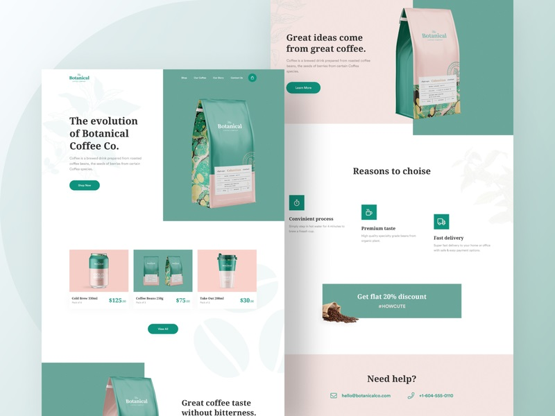 Muhammad Fatih Takey—Botanical Coffee Co Landing Page #1