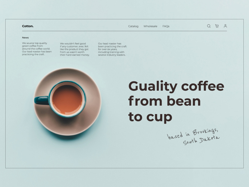Levan Jamelashvili—Coffee shop minimal UI