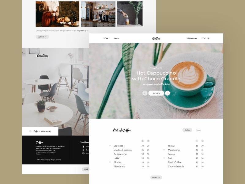 Rhasyab—Coffee - Cafe Landing Page