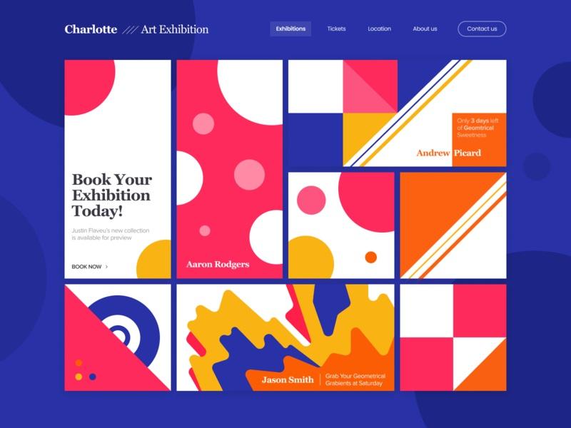 撞色啦!12组色块拼接风的网站界面设计灵感