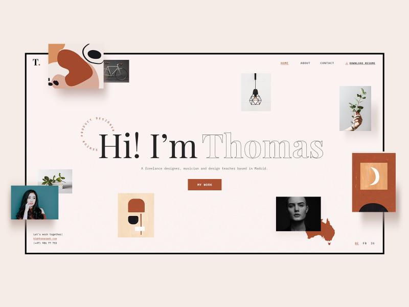 秀个性!12组关于人物简历网站的界面设计探索