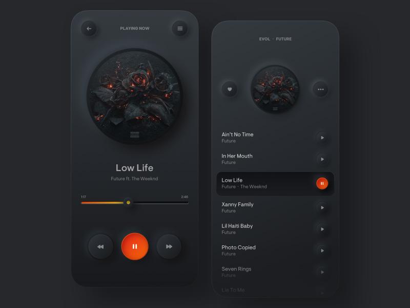 主题「黑」!12组黑色系App界面设计灵感