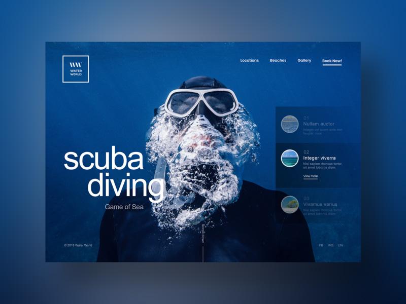 深邃海洋!12组海洋网站界面设计灵感