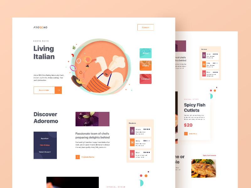 Zuairia Zaman—Restaurant Website