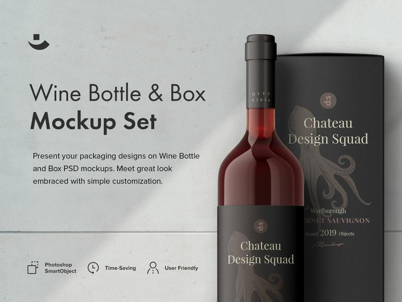 Greg Lapin—Wine Bottles Mockup Set