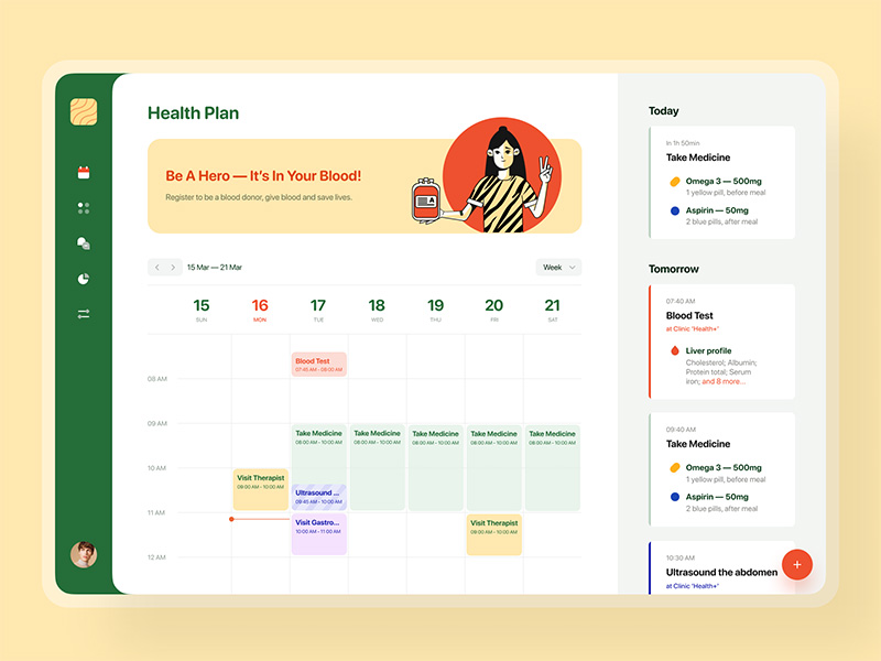Health Plan — Dashboard by Lena Brusenska