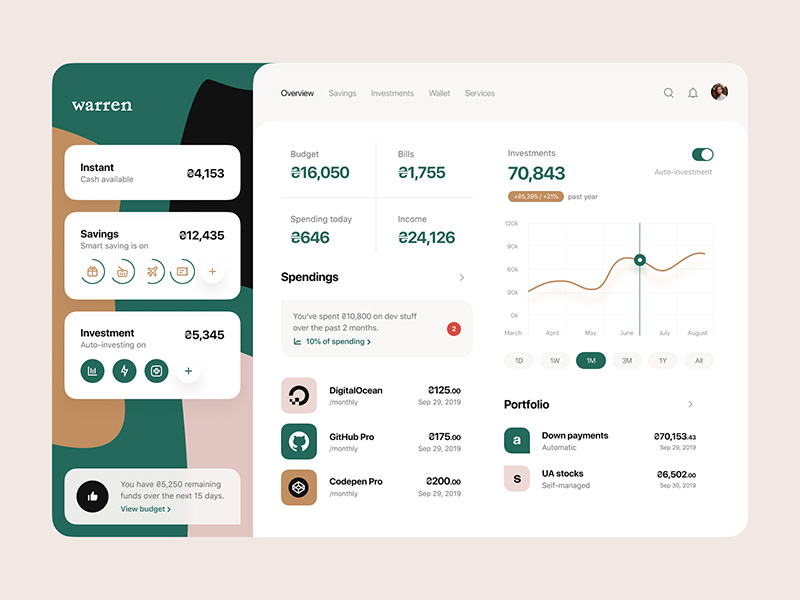 Dashboard: Overview by Vladimir Gruev