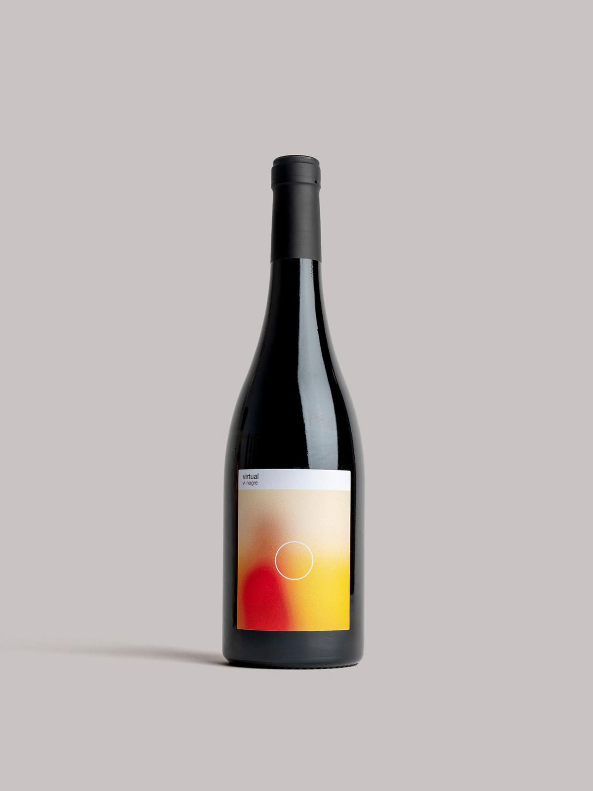 概念性!葡萄酒瓶包装设计