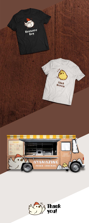 卡通插画!炸鸡品牌VI设计