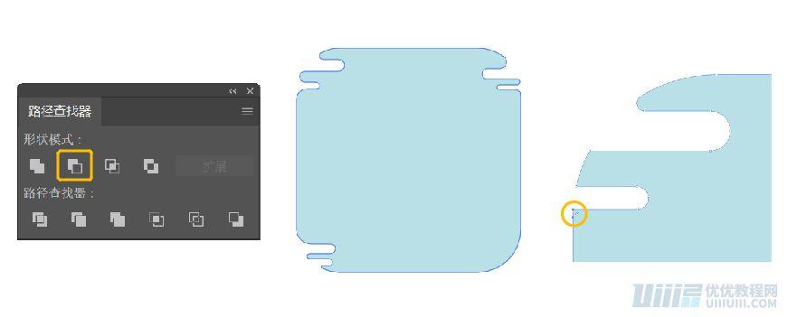 AI教程!用几何形状绘制扁平风格建筑插画