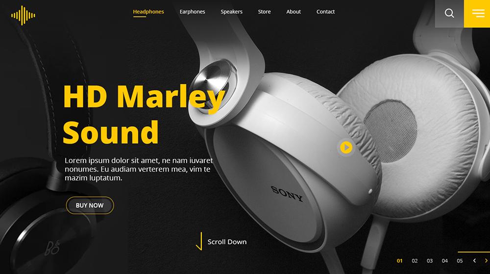 18个耳机产品Banner设计!