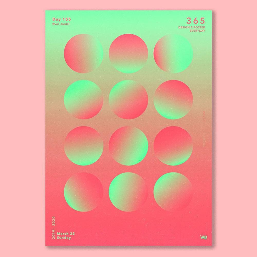 12种渐变圆形在海报中的玩法