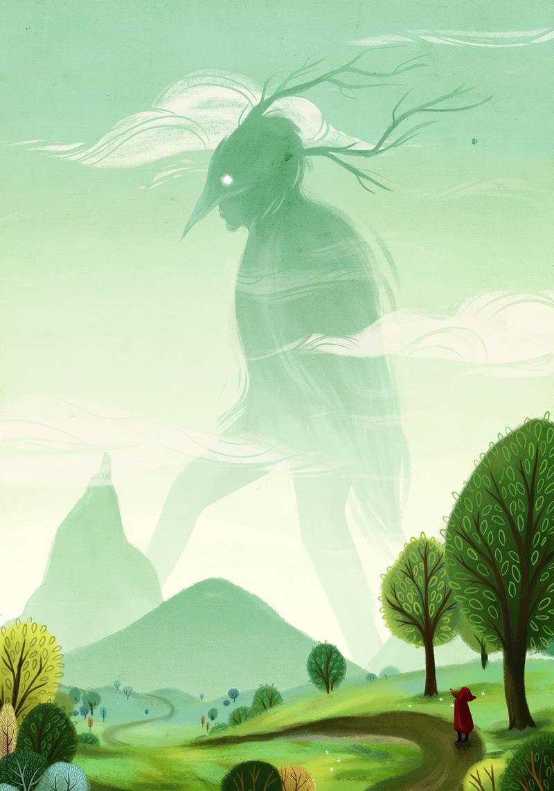 幻想森林!10款绿色调儿童插画