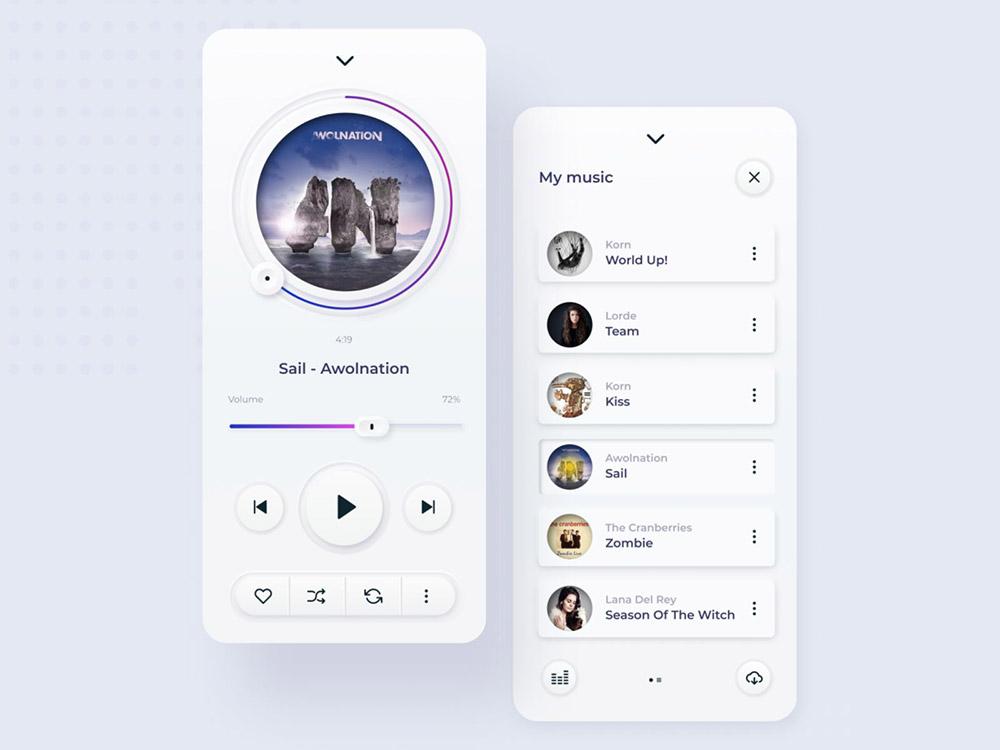 12组音乐App界面设计灵感