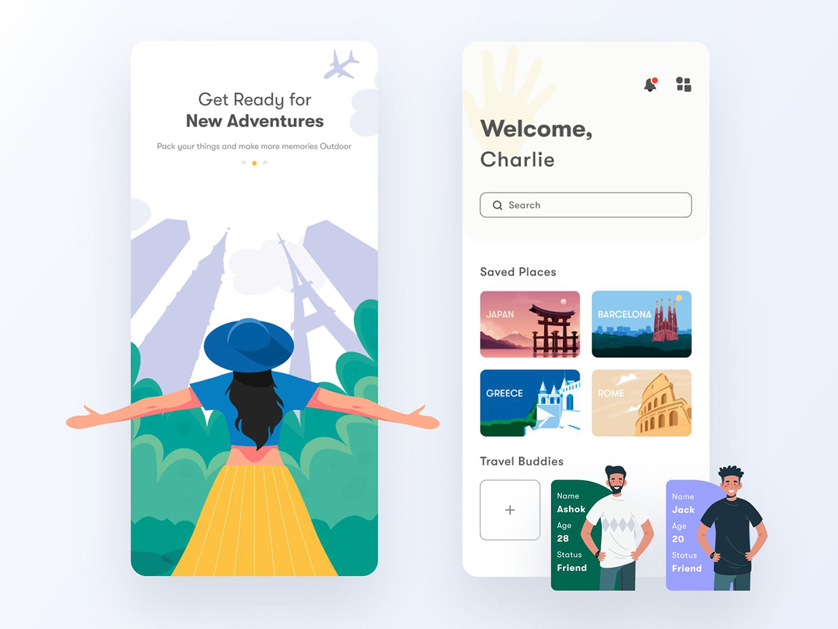 12款界面舒适友好的旅游类App设计