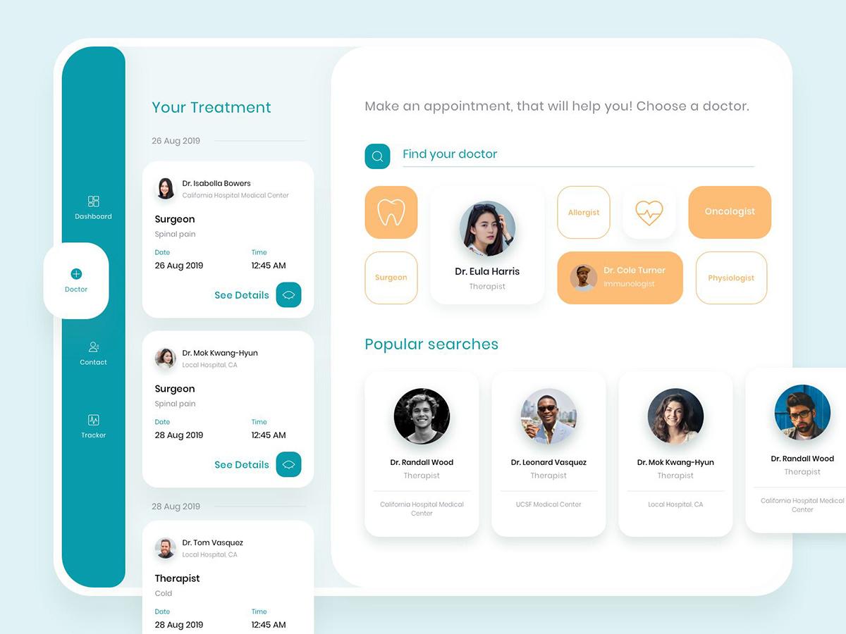 关爱健康!12组医疗类App页面设计灵感