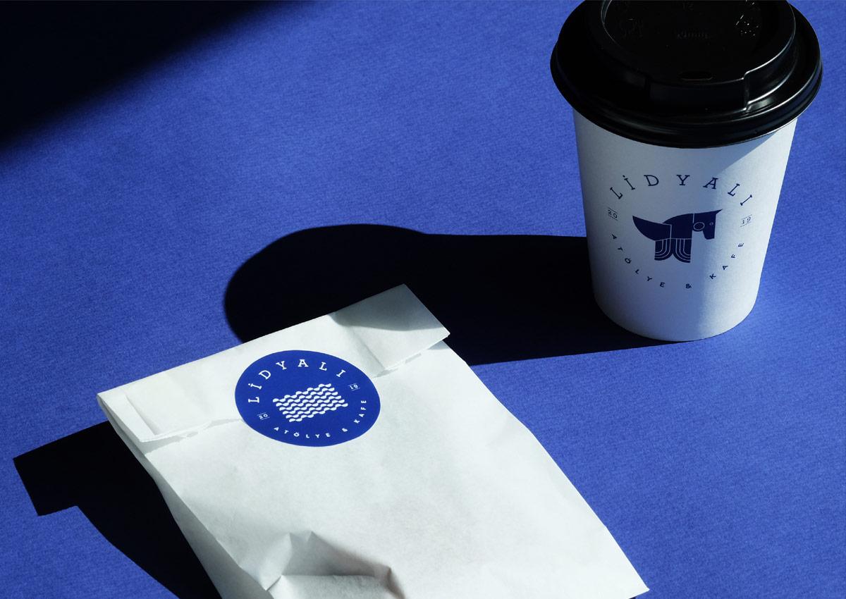 极简蓝色!咖啡厅VI设计