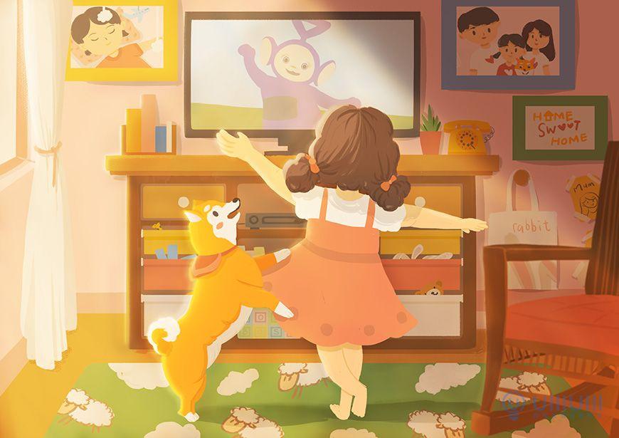 手绘教程!儿童节主题场景插画