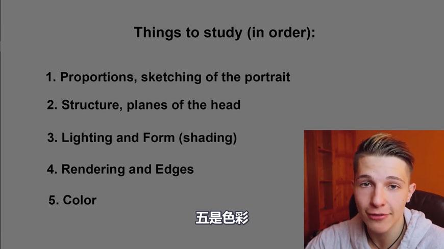 手绘讲解!绘制肖像画的基本原理!