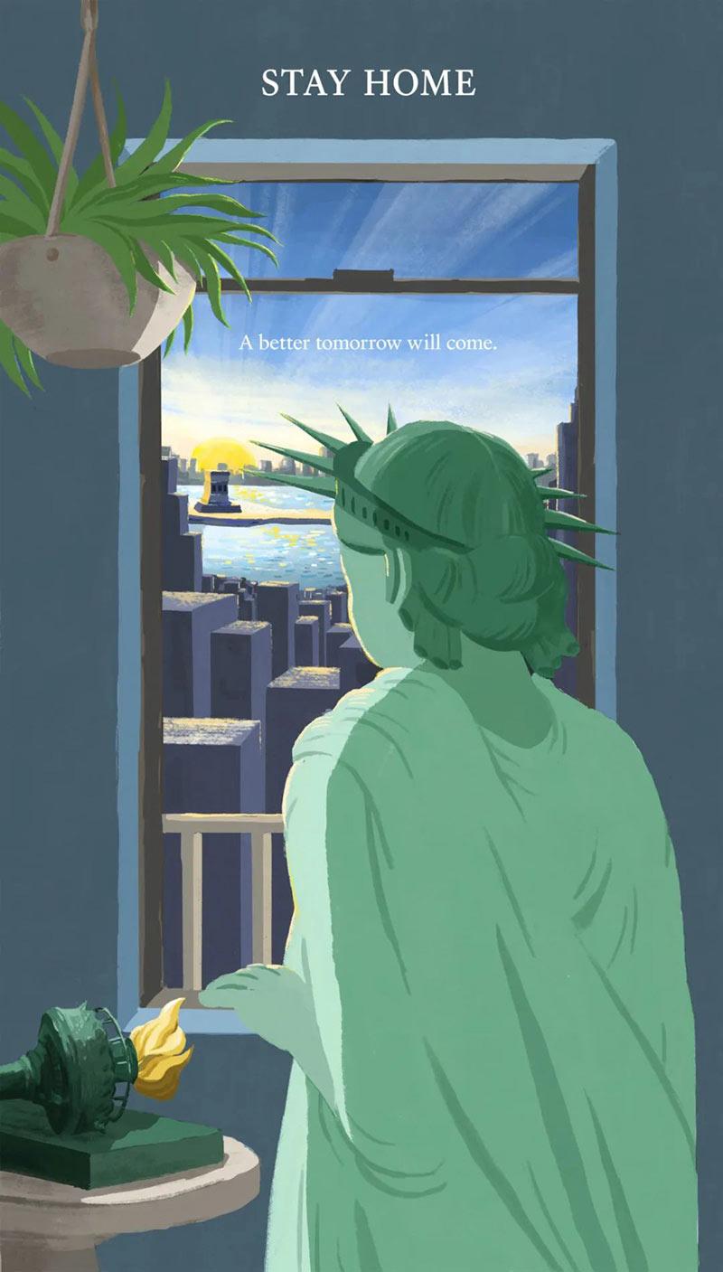 40款纽约抗击疫情海报设计