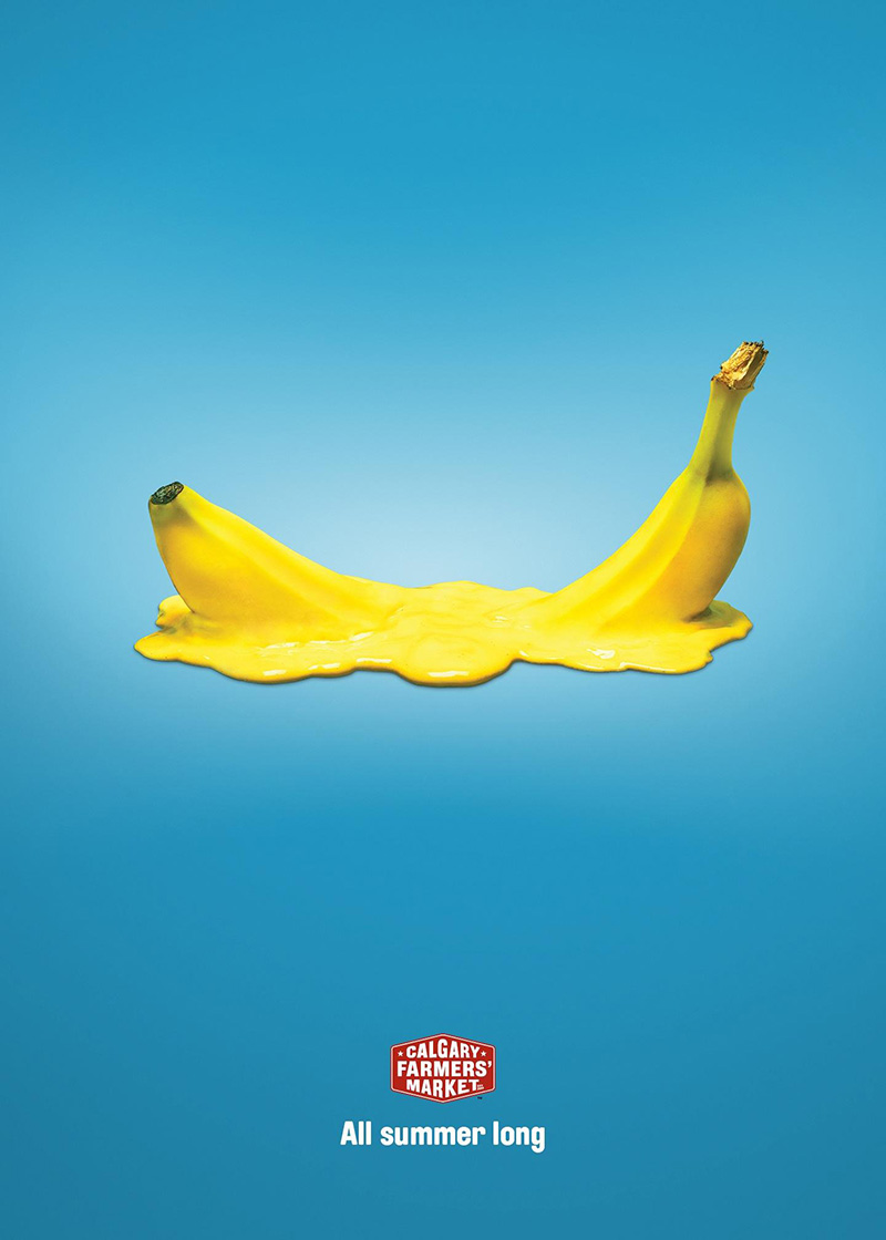 奇思妙想!卡尔加里农贸市场的蔬菜水果宣传海报